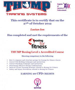 THUMP Boxing Level 1 Qualification