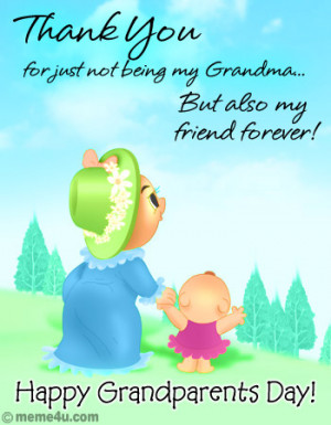 Thank You For Just Not Being My Grandma - Happy Grandparents Day