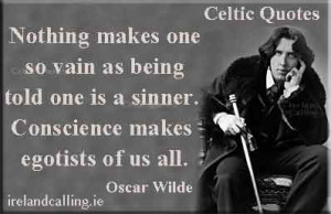 Illustration of Oscar Wilde quote: