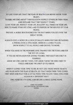 Quotes by tecumseh