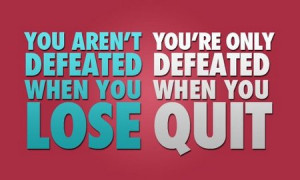 Motivational Quote: Losing vs Quitting