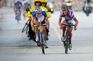 Tyler Hamilton (Rock Racing) and Blake Caldwell (Team Garmin-Chipotle ...