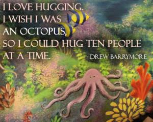 Hug Quote: I love hugging. I wish I was... Hug-(5)