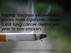 Vaping: Because second-hand smoke from #cigarettes causes 3,400 lung ...
