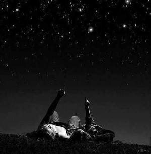 Lay down under a sky full of stars with the one you love #stars#sky