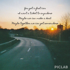 Fast Car Tracy Chapman Framed Quote
