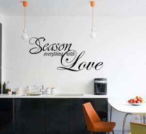 ... -WITH-LOVE-Vinyl-Wall-quote-Mural-Decal-Kitchen-Decor-Sticker