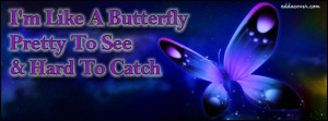 Im Like A Butterfly Facebook Cover