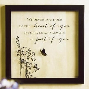 Sympathy Quote on Framed Glass Print