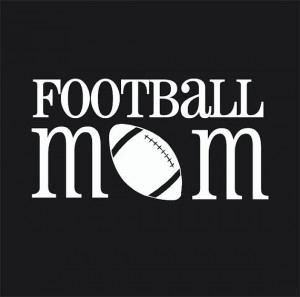 Proud Football Mom Quotes Football mom car window decal