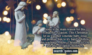 Christmas Quotes About Baby Jesus ~ Baby Jesus Quotes