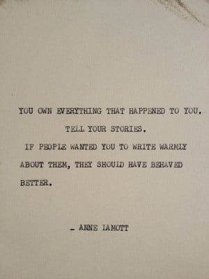 the anne lamott typewriter quote on 5x7 cardstock on etsy $ 5 00