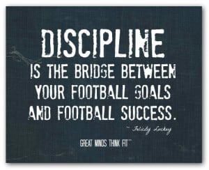 ... between your football goals and football success felicity luckey