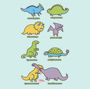 Know Your Dinosaurs is a great dinosaur tee. You can get it now ...