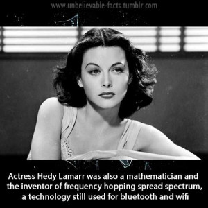 Hedy Lamarr - Actress, mathematician, inventor, pioneer of radar ...