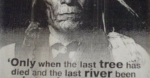 Funny Wisdom Quotes | … Only When The Last Tree Has Died – Native ...