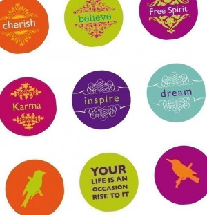 Quotes and sayings Part 1- Vibrant - (1x1) One inch Pendant round ...