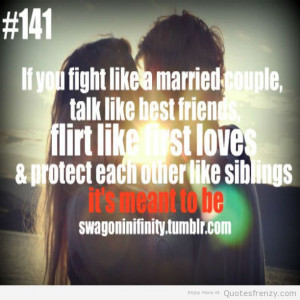 Cute Couples with Swag Quotes