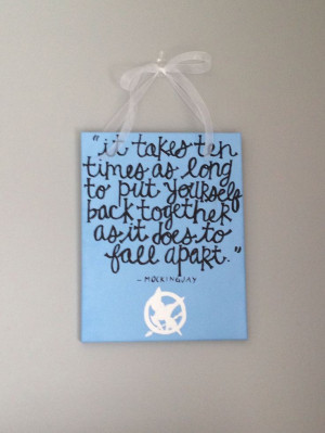 Mockingjay Canvas (Finnick Odair Quote)