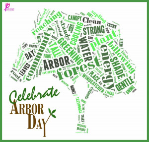 Arbor Day Word Tree Celebration of Arbor Day Card Image Quote