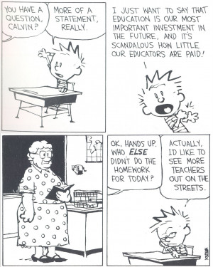 Calvin and Hobbes: Teachers