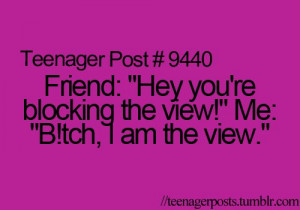 Teenager Post Self Centered Much