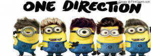 Minions One Direction Profile Facebook Covers