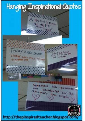 Celebrating Seuss Part 2: Hanging Inspirational Quotes