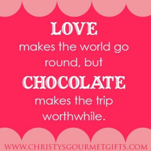 ... go round, but chocolate makes the trip worthwhile.