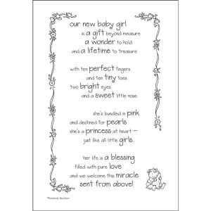 Expecting Baby Girl Poem Poem birth announcement