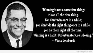About Vince Lombardi Perfection Quote