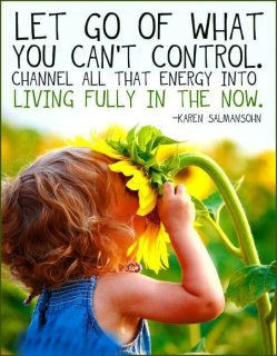 Let go of what you can't control. Channel all that energy into living ...