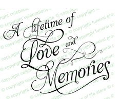 Funeral Poems Quotes : A Lifetime of Love and Memories Elegant Title ...