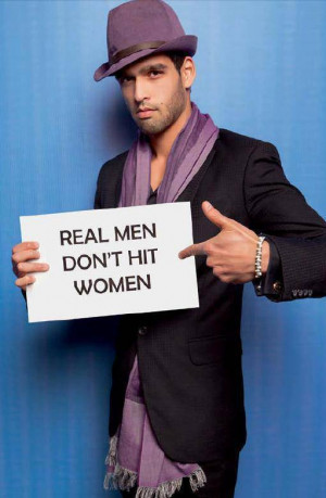 ... Actors Latest Photoshoot for 'Real Men Don't Hit Women' Campaign