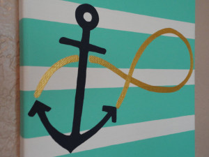 NEW 8x10 Hand Painted Infinity Anchor Canvas- Hebrews 6:19