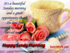 Happy Sunday Morning Quotes and Sayings with Images