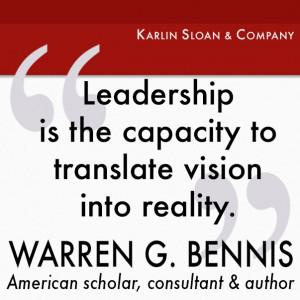 Warren G Bennis - leadership quote