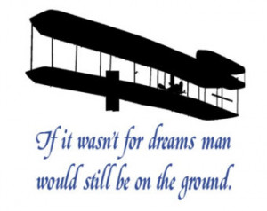 Wright brothers, wall quote decal, wall words, aviation quote ...