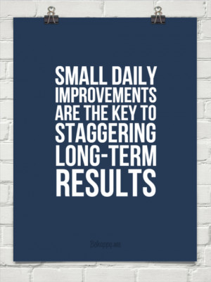 Small daily improvements are the key to staggering long-term results ...