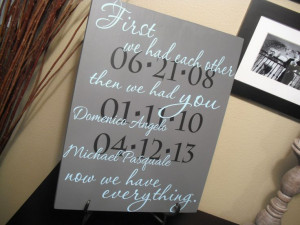 FIRST We Had Each Other Custom Quote Sign Important by GaroSigns, $55 ...