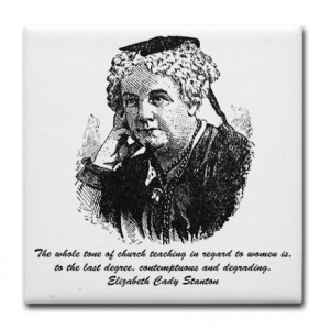 ... Kitchen & Entertaining > Elizabeth Cady Stanton quote Tile Coaster