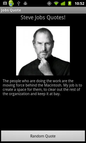Steve Jobs Quote! - screenshot