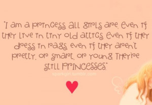 am a princess; All girls are