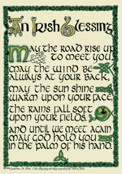 Irish blessings conveys our best hopes for each other's health, wealth ...