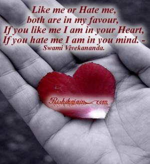 like or hate me?