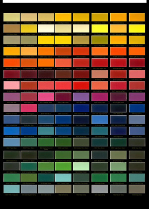 RAL Paint Color Chart