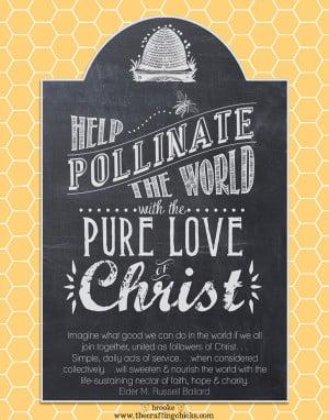 "Pollinate the World"" Chalkboard Art poster {Free Printable}"