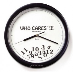 Quote of the day: Who cares