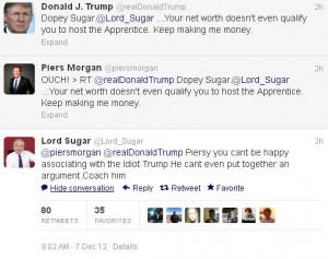 Piers Morgan wades into the Alan Sugar vs Donald Trump debate (again)
