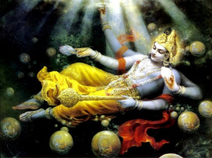 Zillions of Universes emerging from Shri Maha-Vishnu